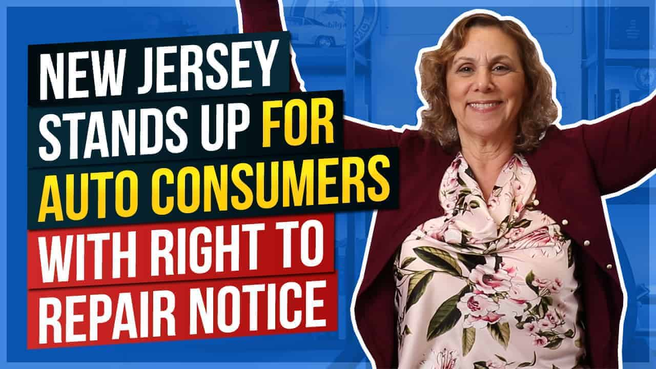 New Jersey Stands Up for Auto Consumers with Right to Repair Notice