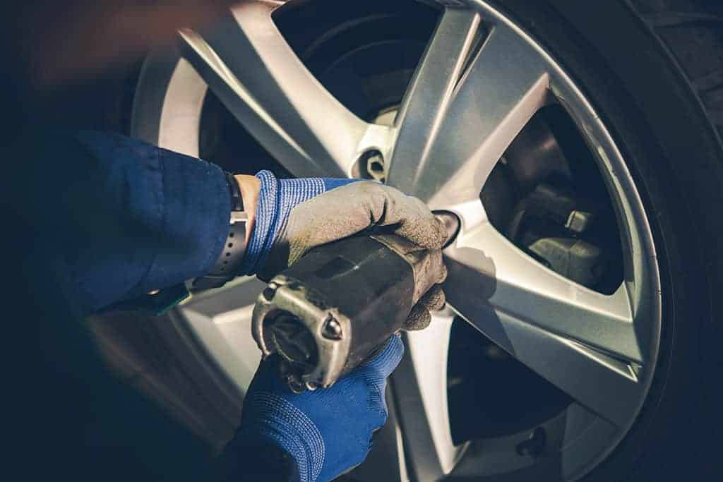 Mechanic Performing a Tire Replacement
